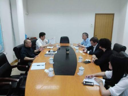 Gao Shiji meets with Chicago, Florida professors