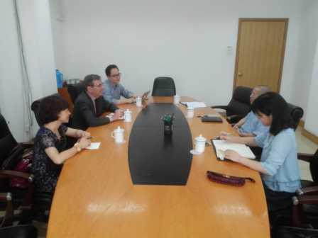 Gao Shiji meets with IISD officials