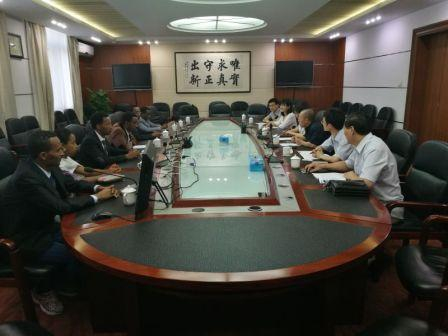 Gao Shiji meets with experts from Ethiopia