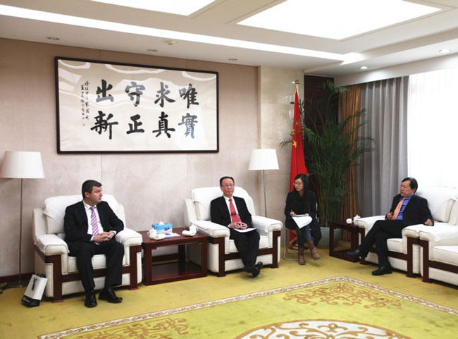 Wang Yiming meets with director of Turkish National Technology Innovation Committee