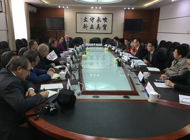 Wang Yiming meets with Russian Presidential adviser