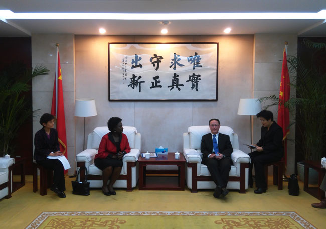 Wang Yiming meets with Vice President of World Bank