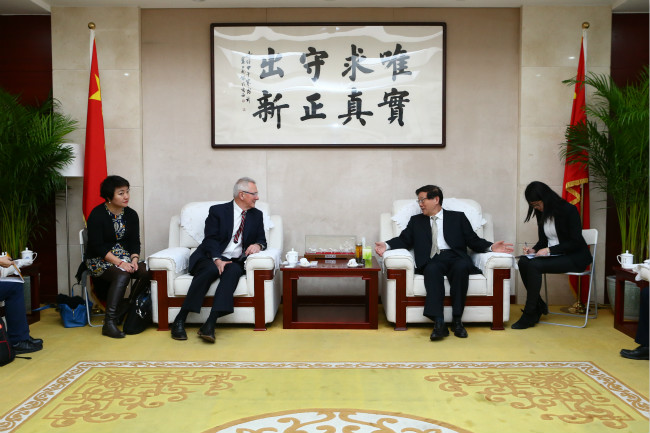 DRC President Li Wei meets with Dr. Andrew Steer